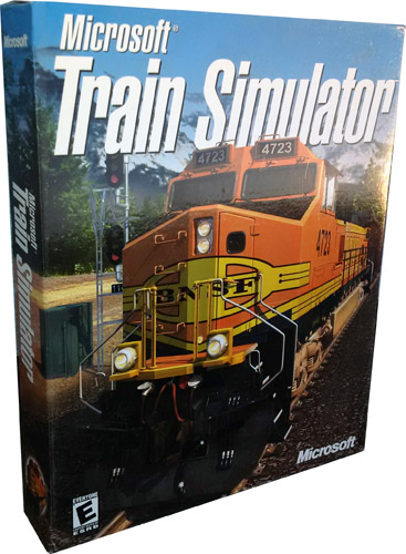 Microsoft Train Simulator v.1.0 Large Retail Box for PC NEW! Mint in Sealed Box!