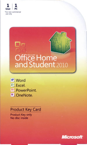 microsoft office home and student 2010 medialess 79g 02020. Black Bedroom Furniture Sets. Home Design Ideas