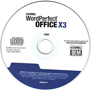 corel wordperfect office x3 serial number