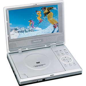Initial IDM 1731 Portable DVD Player With 7 Widescreen 169 LCD Retail Box